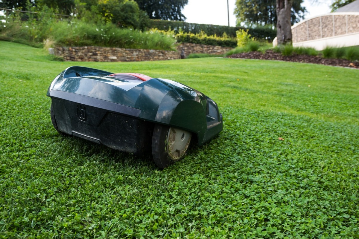 Robotic mowers tend to mow precisely without leaving patches of uncut grass in their wake.