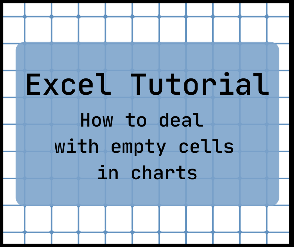 If your data range contains many blank cells, it can be hard to create a chart.