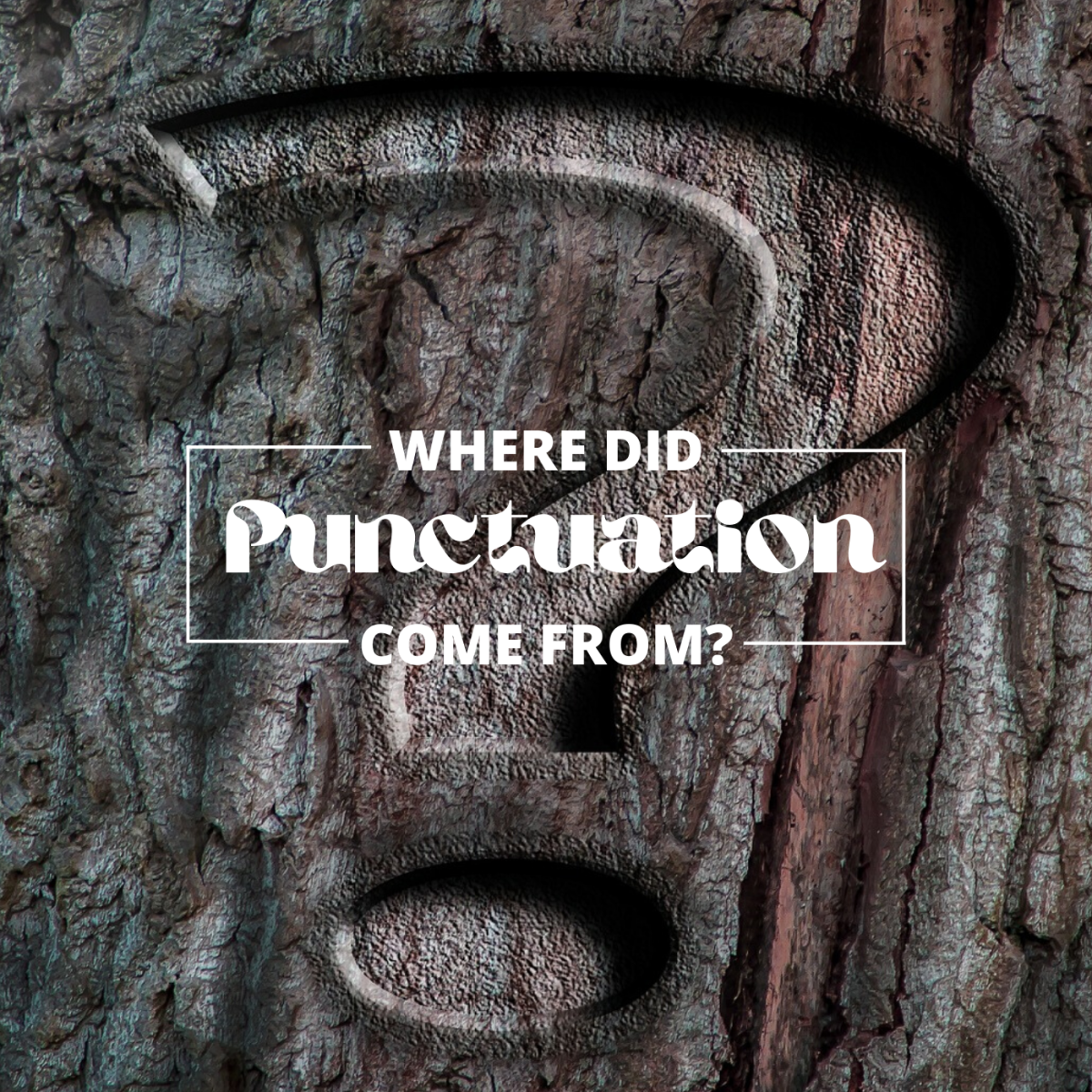 Writing hasn't always included punctuation. In fact, for a while, most writing didn't even include spaces.