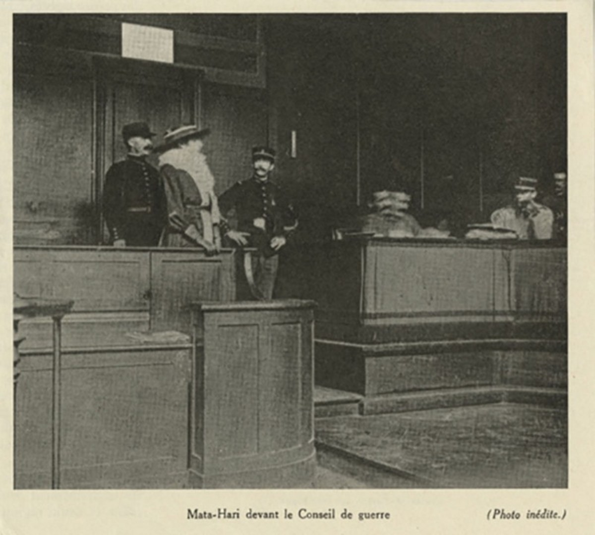 Mata Hari on trial for her life
