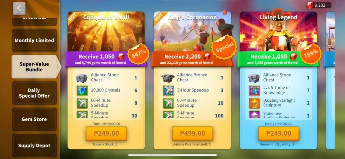 Super Value Bundles