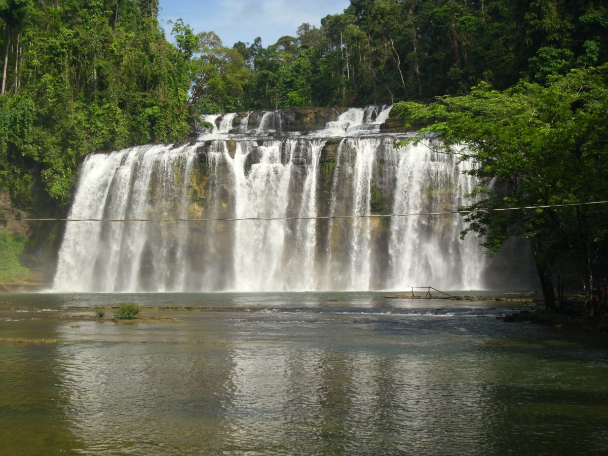 The second and the third tier of Tinuy-an Falls, Surigao del Sur, Philippines. Taken from the bridge.