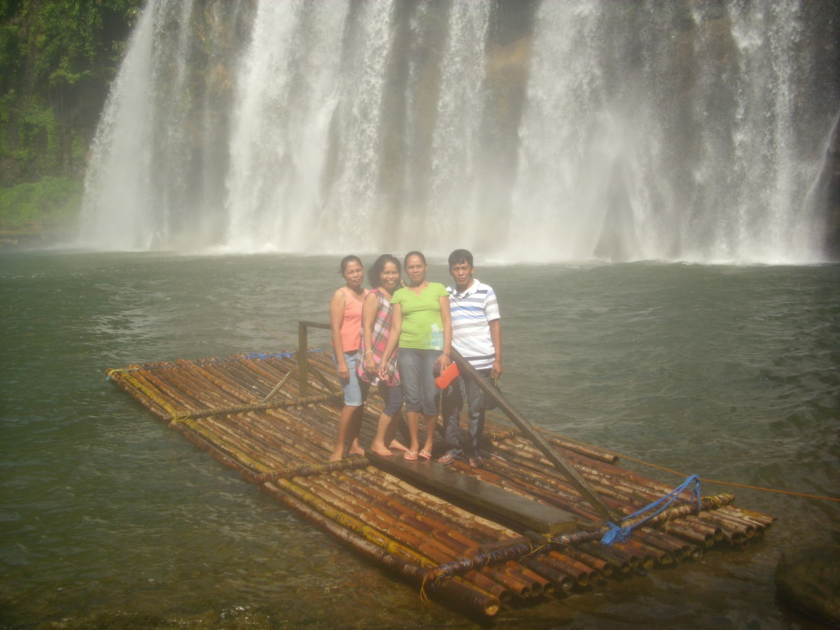 My siblings and I at Tinuy-an Falls, Bislig, Surigao del Sur