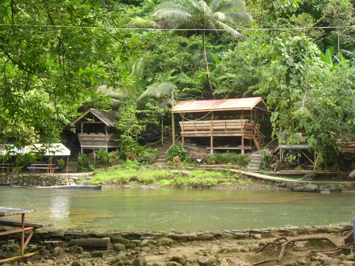 Some cottages at Tinuy-an Falls, Surigao del Sur