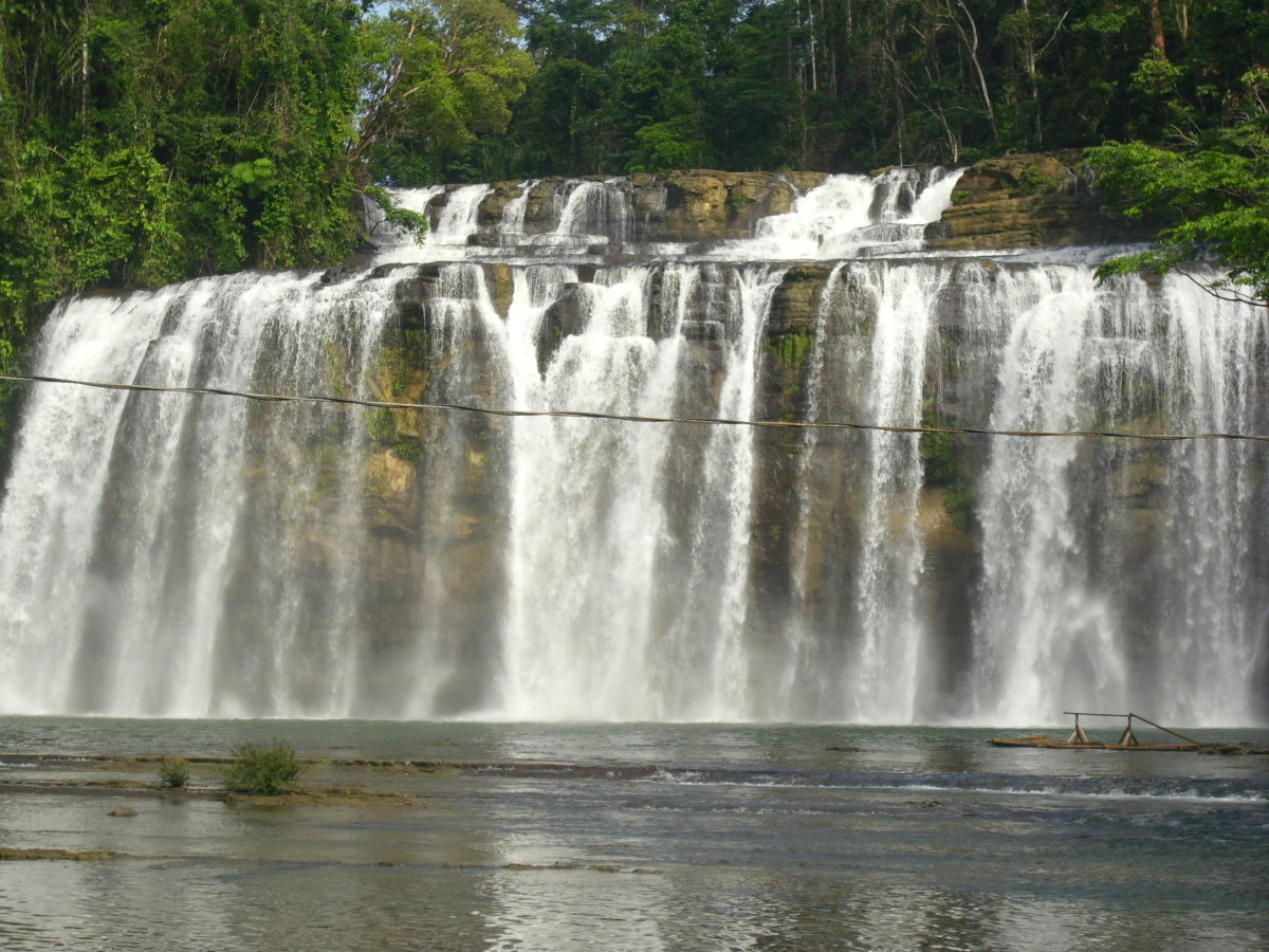 Tinuy-an Falls, Surigao del Sur, Philippines. Photo taken from the bridge.
