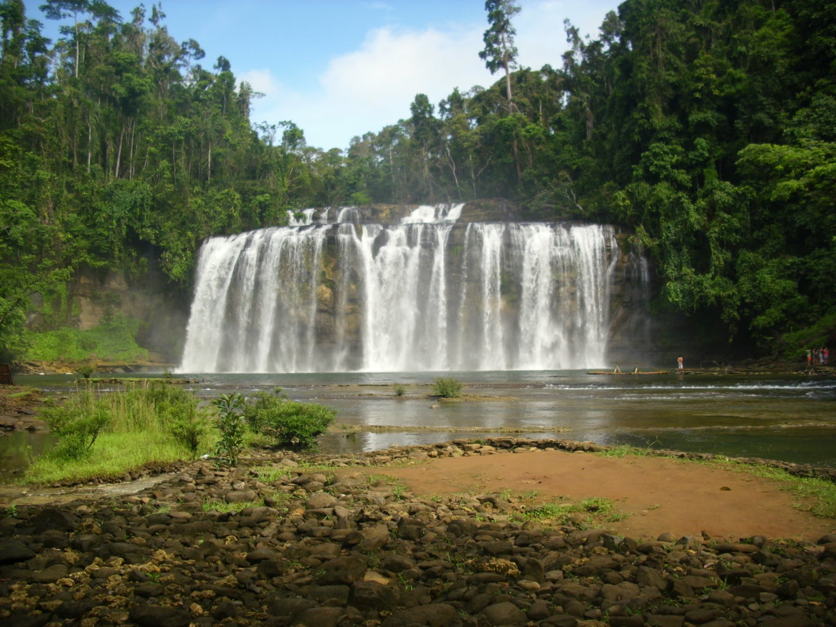Tinuy-an Falls, Surigao del Sur, Philippines. Photo taken from the picnic cottage