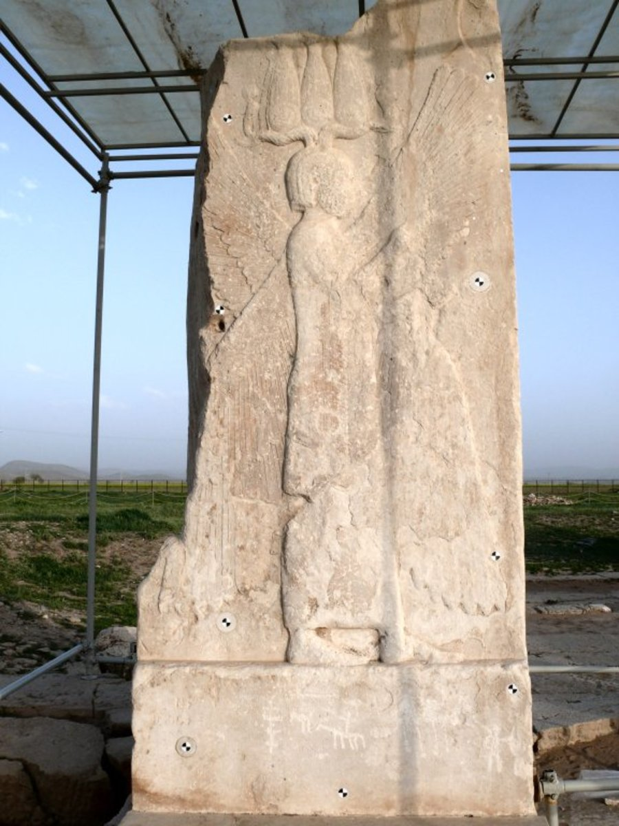 Bas relief of Cyrus the Great at Pasargadae