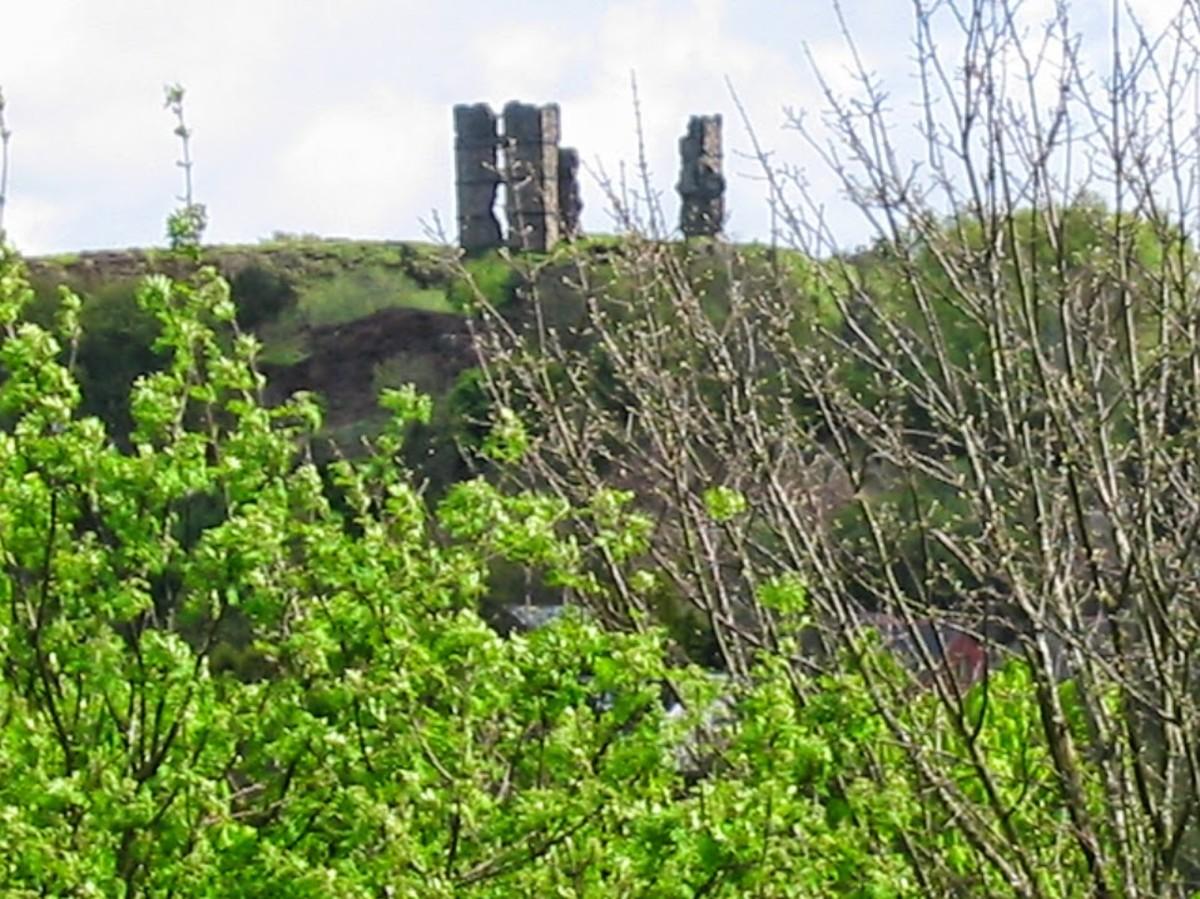 Morris Castle or Craig Castle, Treboeth, Swansea taken from Llangyfelach Road