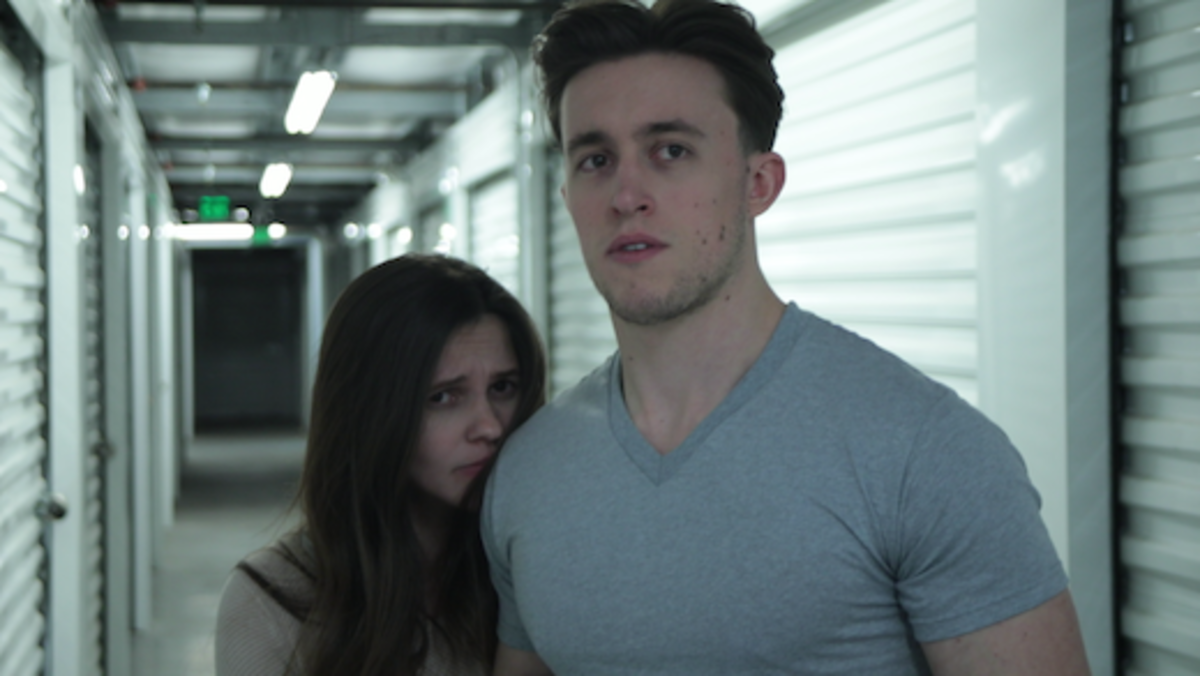 Sarah (Ashley Campbell) and David (Dillon Weishuhn) realize that they are not alone