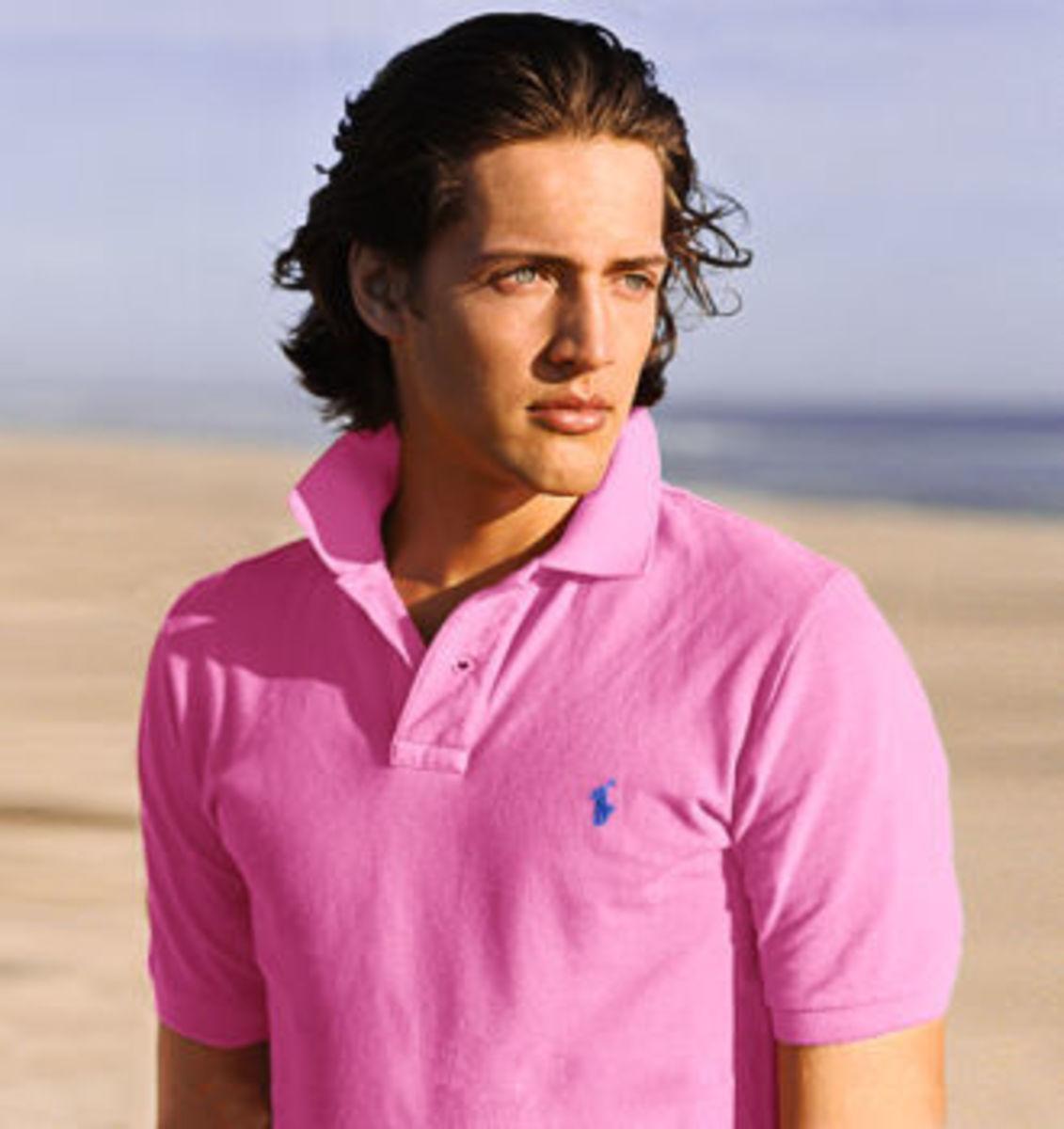 A pretty boy in pink.