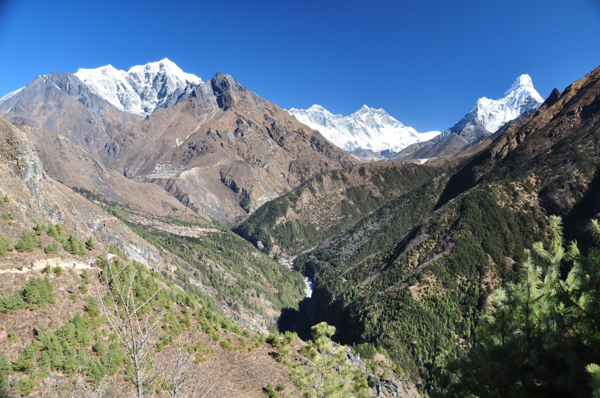 Imja valley in Everest