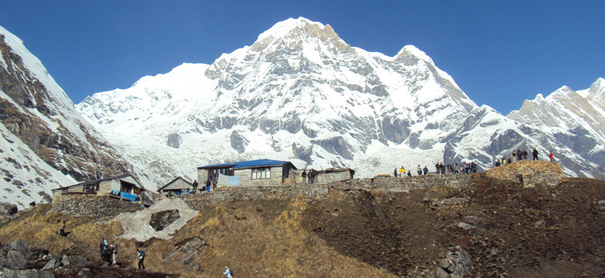 Annapurna base camp with lodges