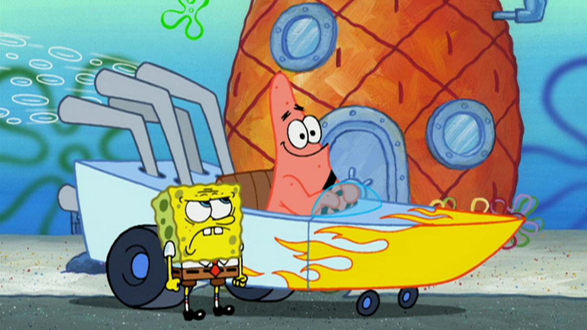 Patrick driving his boatmobile
