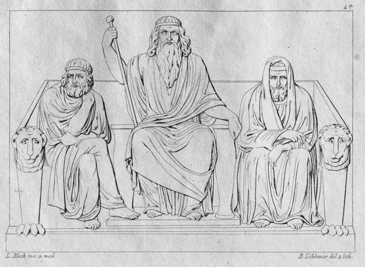 Judges of the Underworld - Ludwig Mack (1799-1831), Bildhauer - PD-life-70