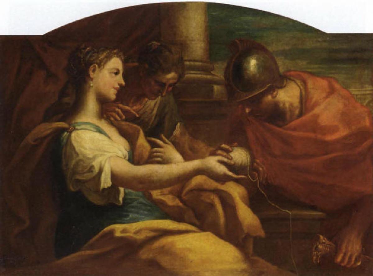 Ariadne and Theseus - Niccolò Bambini - PD-art-100