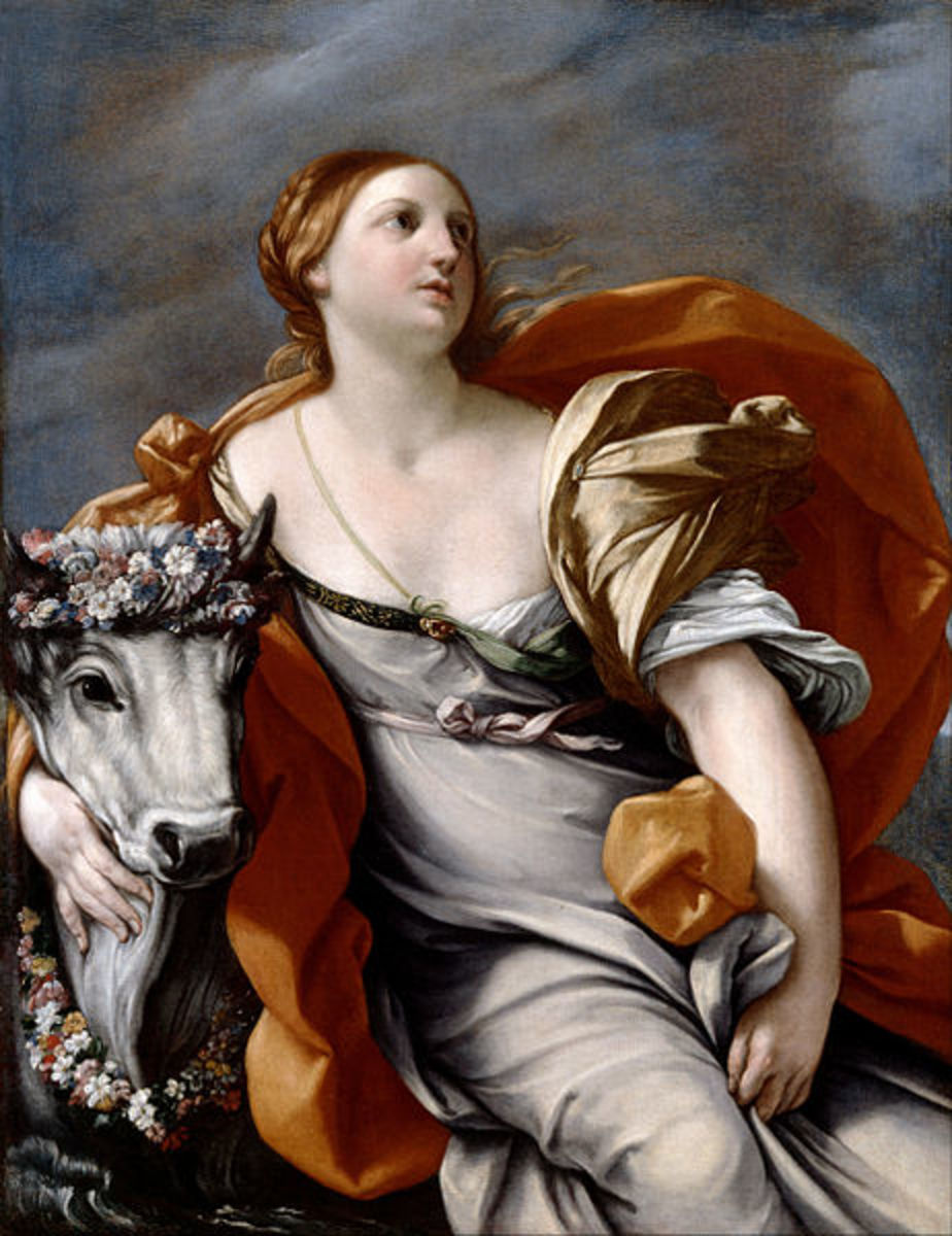 Europa and the Bull - After Guido Reni (1575–1642) - PD-art-100