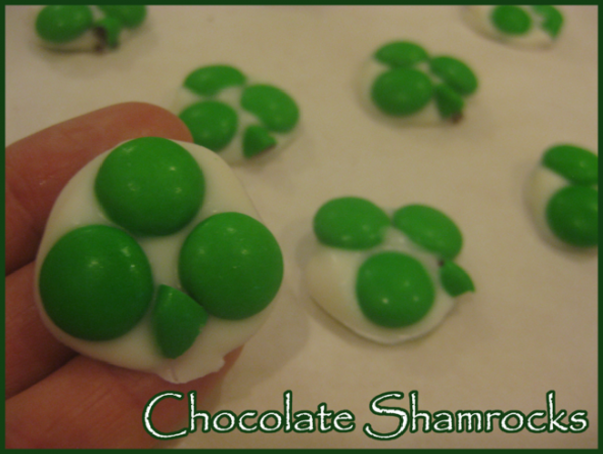 Chocolate Shamrocks Candy Recipe for St Patricks Day