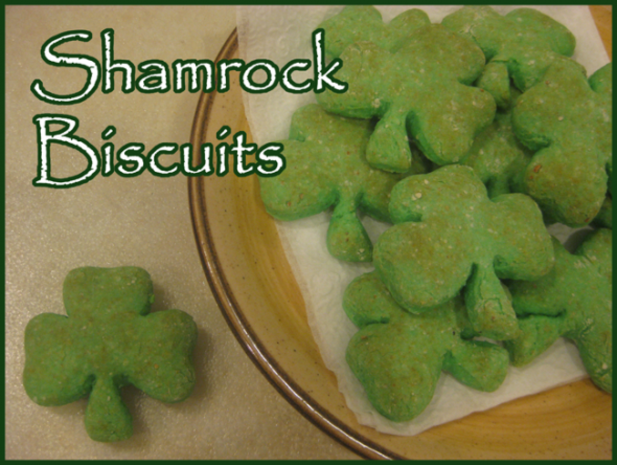 Shamrock Biscuits for St Patricks Day