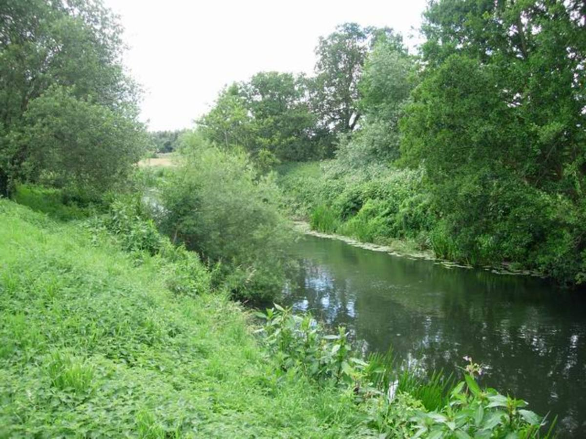 The River Lugg by Marden Church.