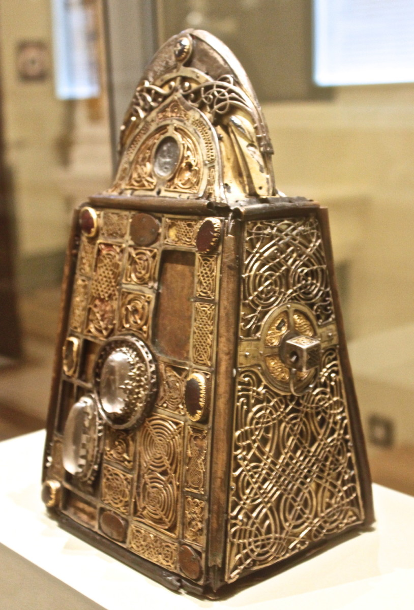 The Shrine of the Bell of St. Patrick's Will. The Marden Bell might once have been decorated like this.
