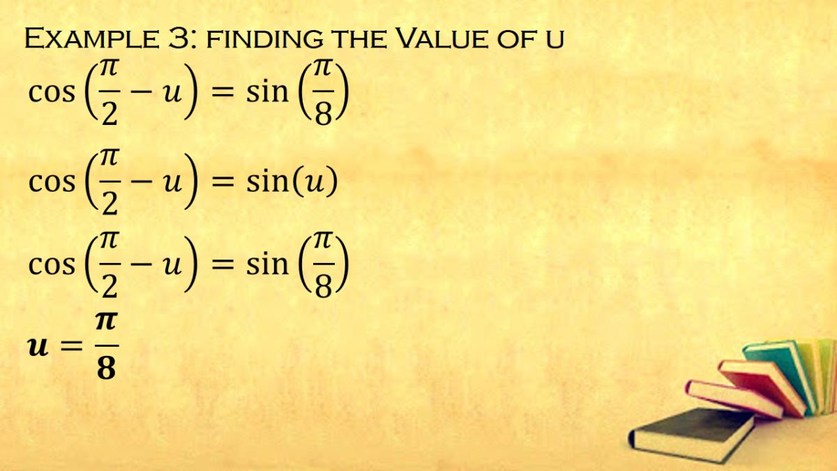 Finding the Value of Angle Measure U Using Cofunction Formulas