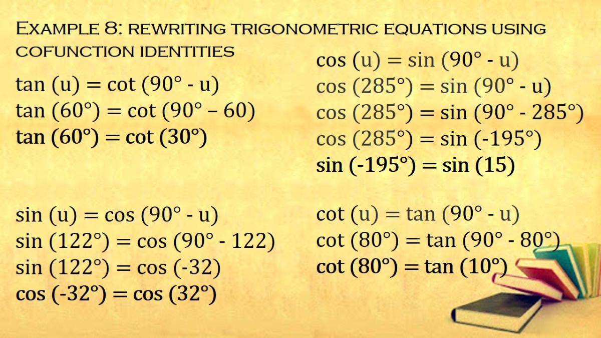 Rewriting Trigonometric Equations Using Cofunction Identities