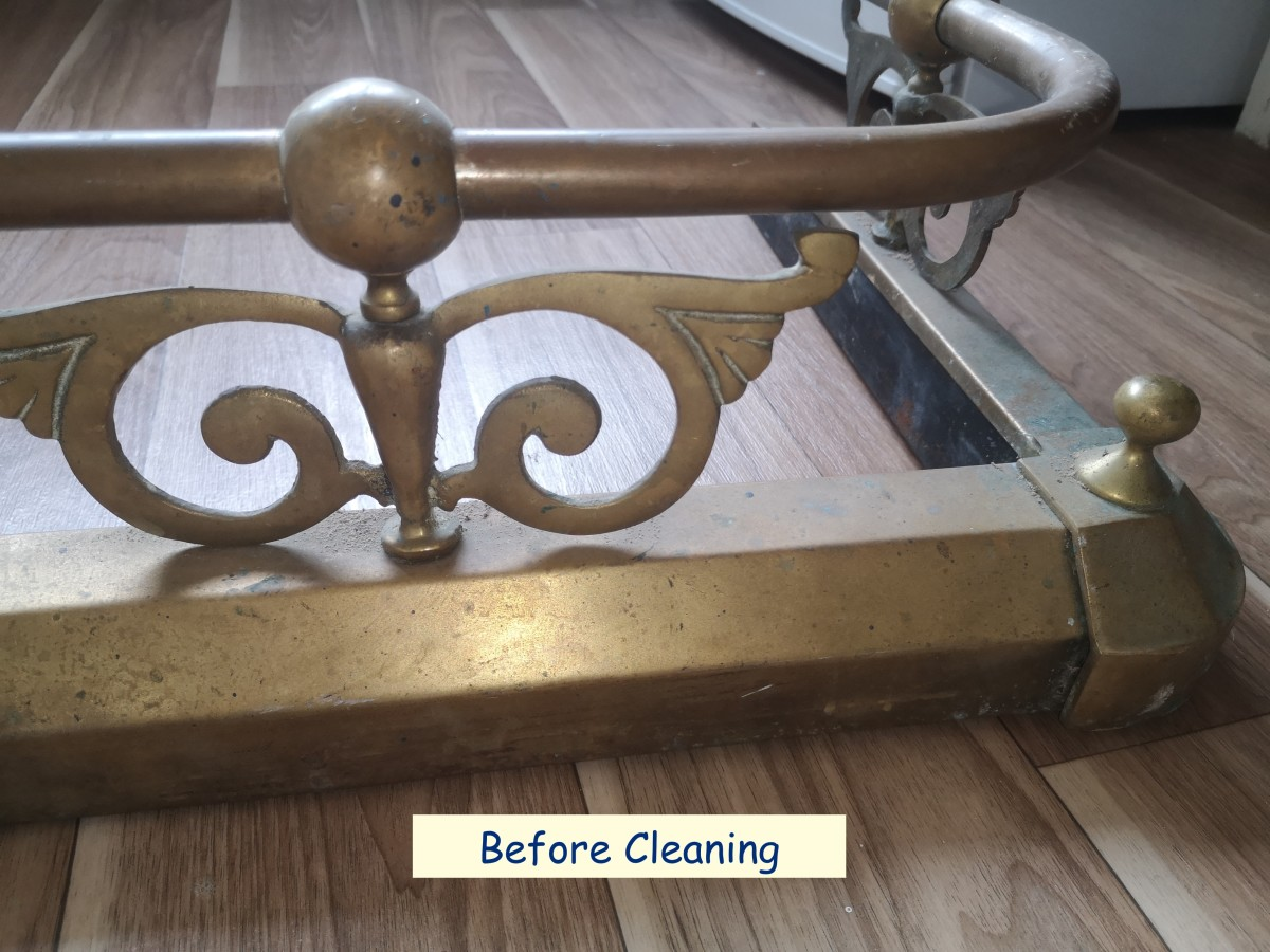 How To Clean Old Brass Using Bar Keeper's Friend