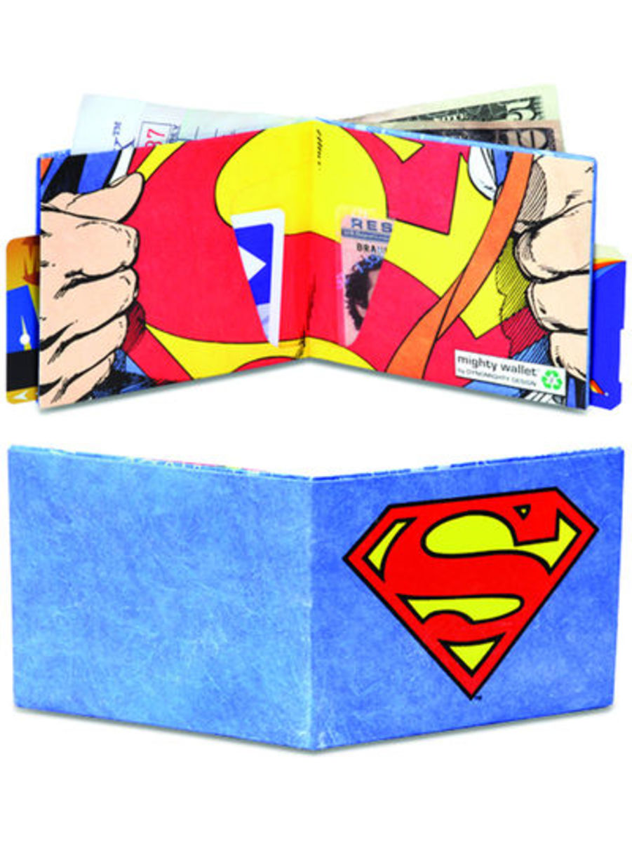 DC Comics Superman Shield Logo Blue Nylon Bifold Wallet
