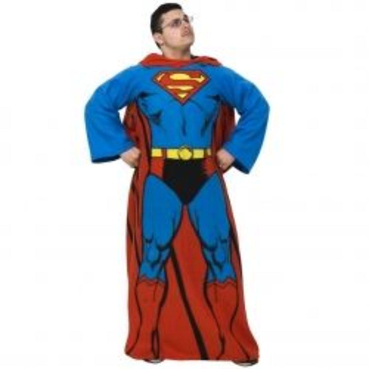 Superman Cozy Fleece Blanket with Sleeves