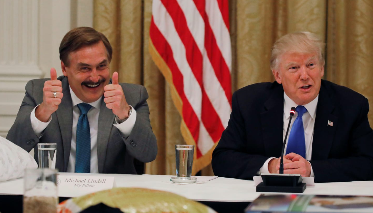 Trump says he uses a MyPillow and will support Lindell, should he decide to run for governor of Minnesota.