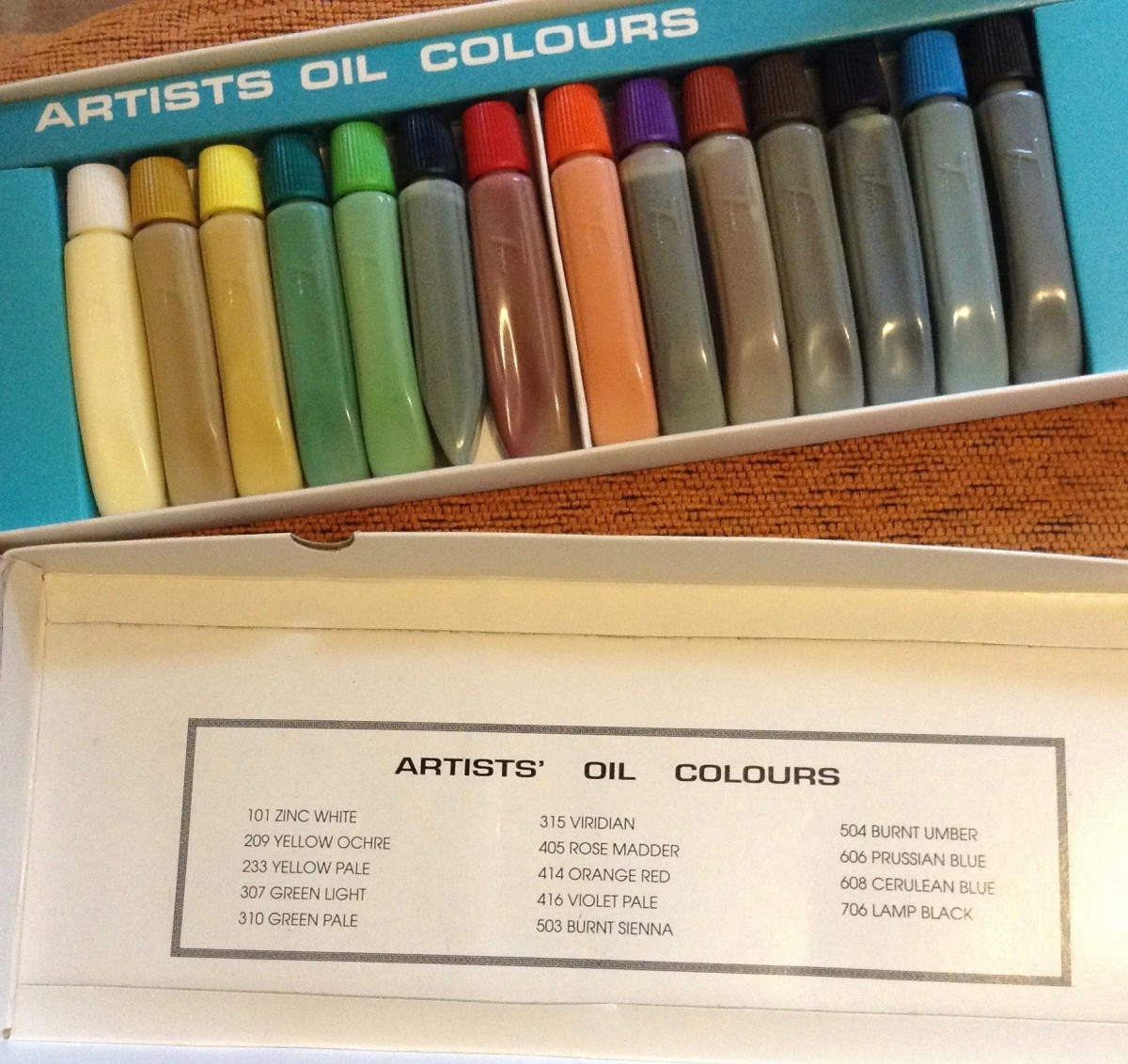 Oil Paints: Look at the names!  Wonderful!