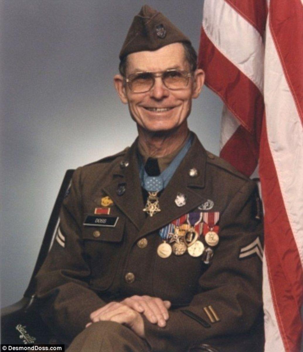 Desmond Doss with medals