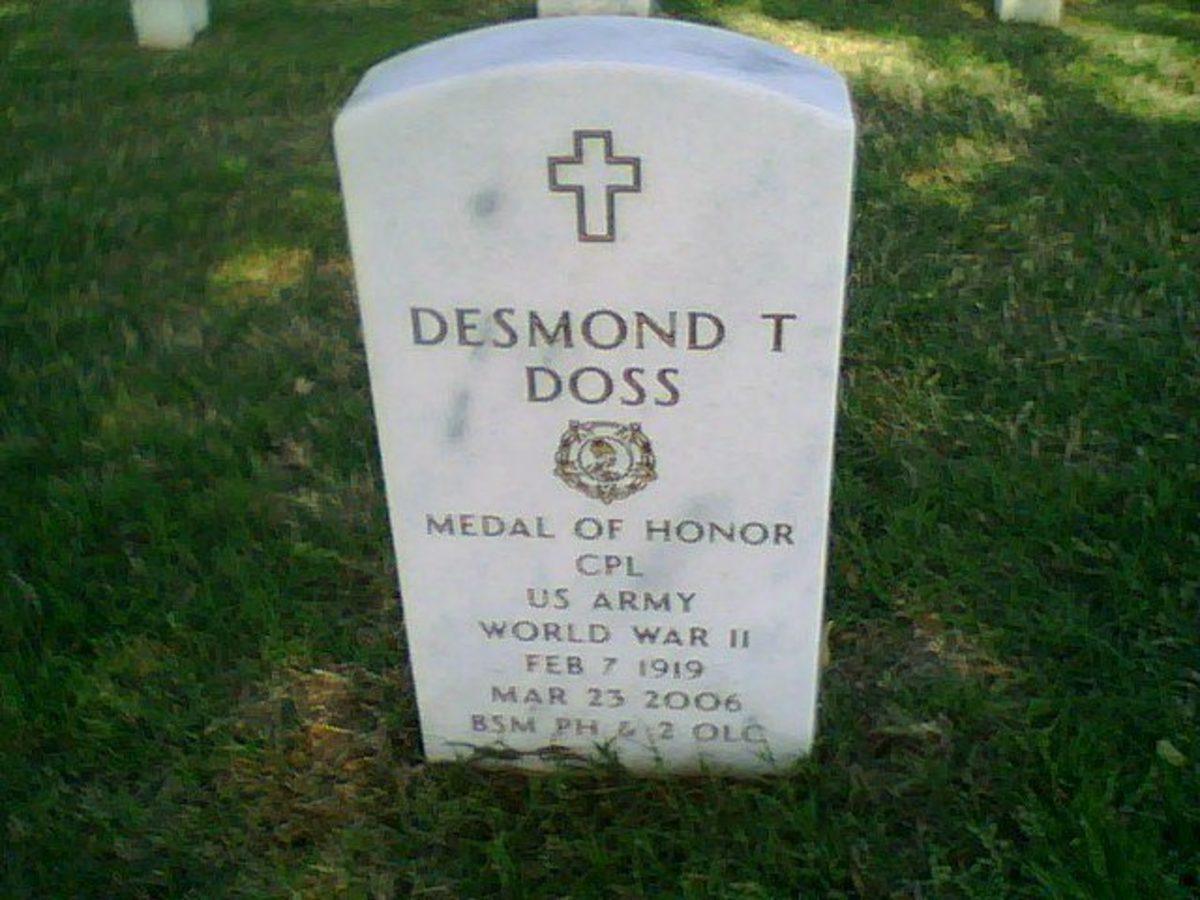 Desmond Doss grave marker