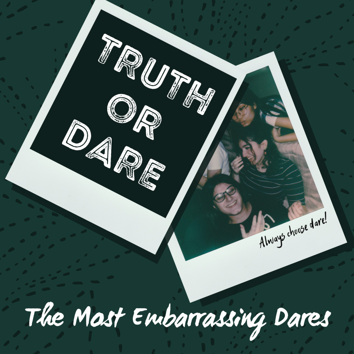 Get tons of ideas for funny dares, hard dares, crazy dares, and—above all—embarrassing dares for playing Truth or Dare with your friends!