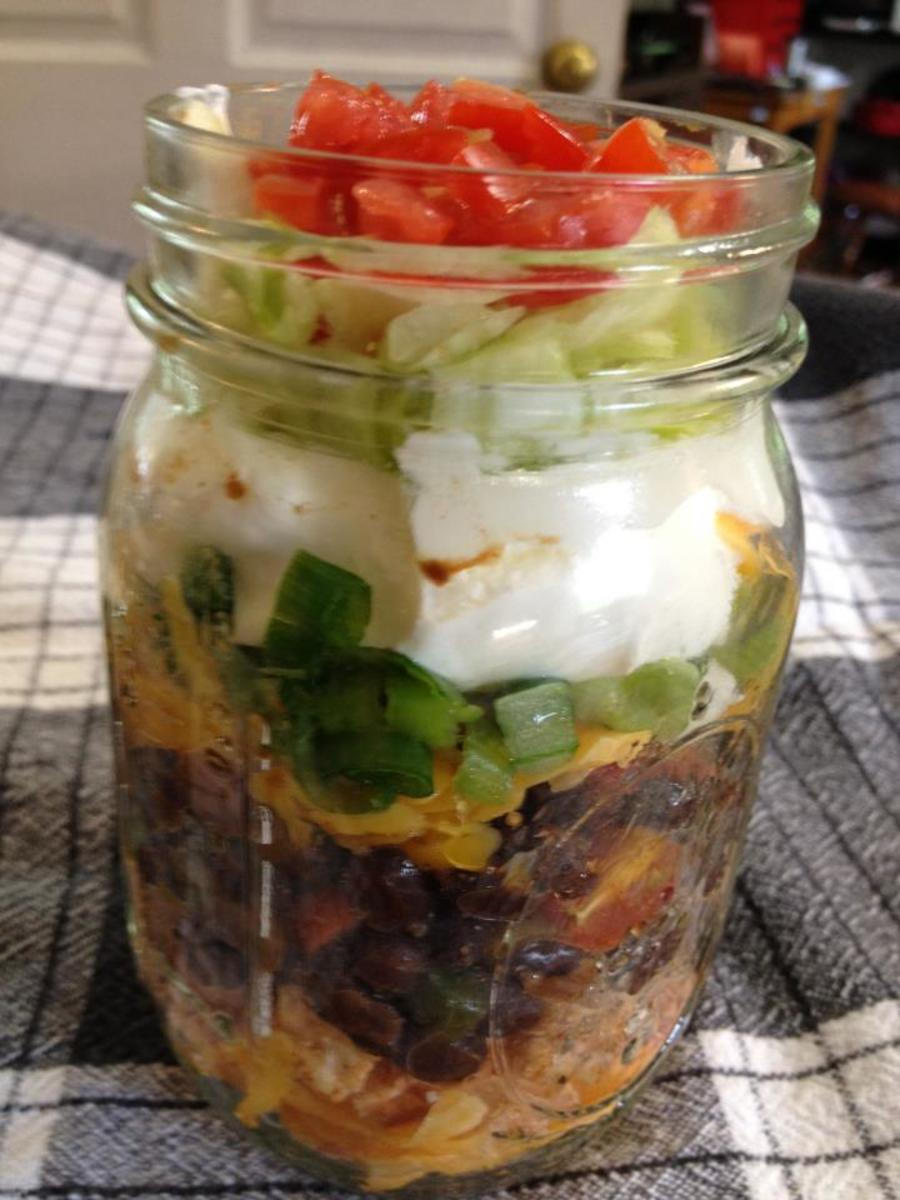 Simple Layered Chicken Taco Salad Recipe