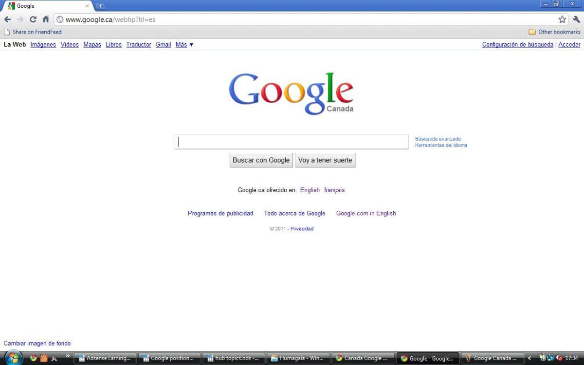 Google Canada in Spanish