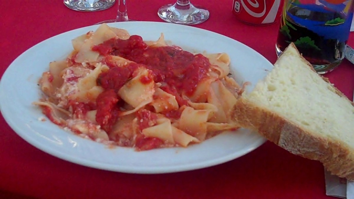 Ziti w/ Goat Cheese in the town of Paola