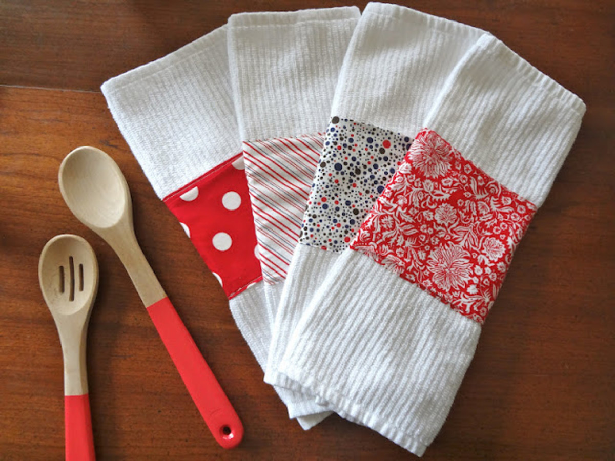 Embellished Dishtowels