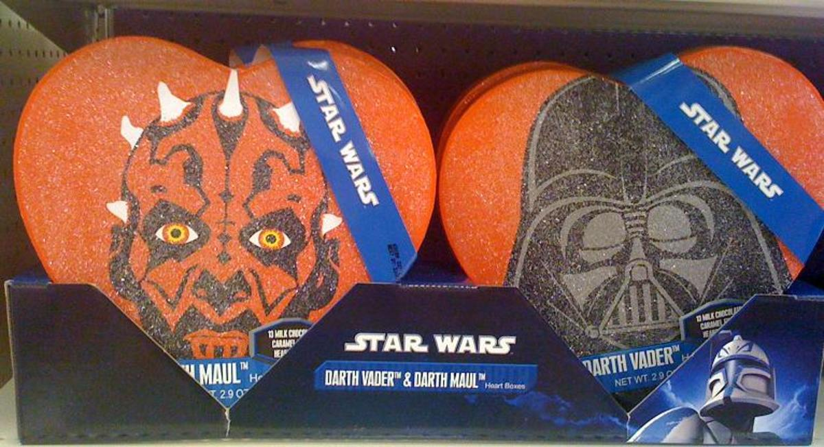 If you like Darth Maul as a Valentine's Day theme, you go for the bad boy.  Or you are the bad boy!