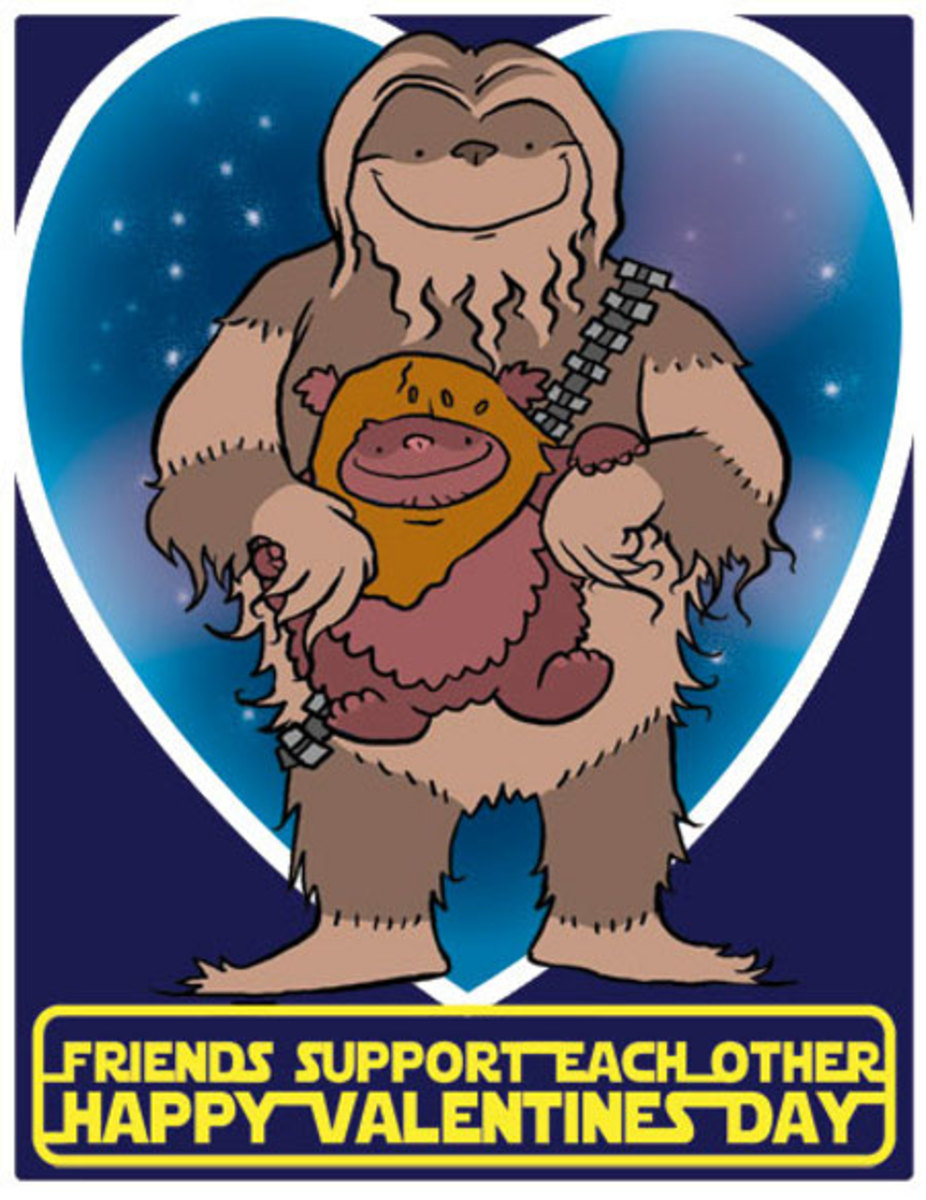 This is just one of the many great Star Wars Valentine's Day cards you can print out from geekologie.