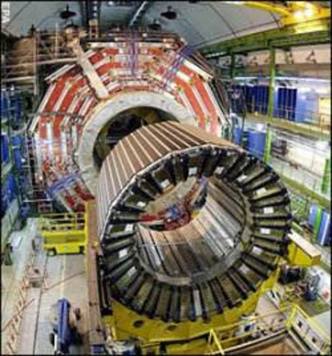This is one of the tools used to explore the quantum. It is the accelerator at the LH C in Switzerland.