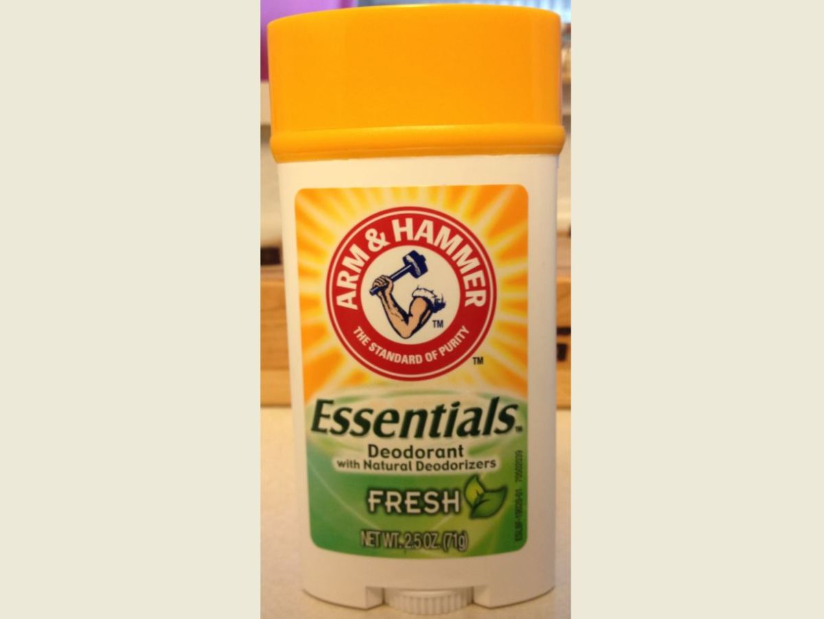 Deodorant container I used for my homemade deodorant. Arm & Hammer doesn't work well, photo is just an example of where to pour your homemade deodorant. Most deodorant containers will work fine.