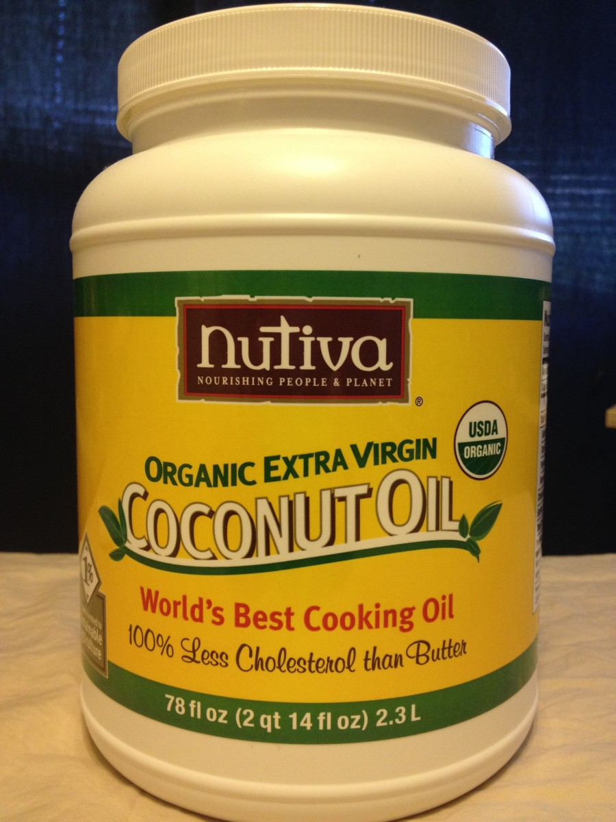 Organic coconut oil I use for my coconut oil deodorant