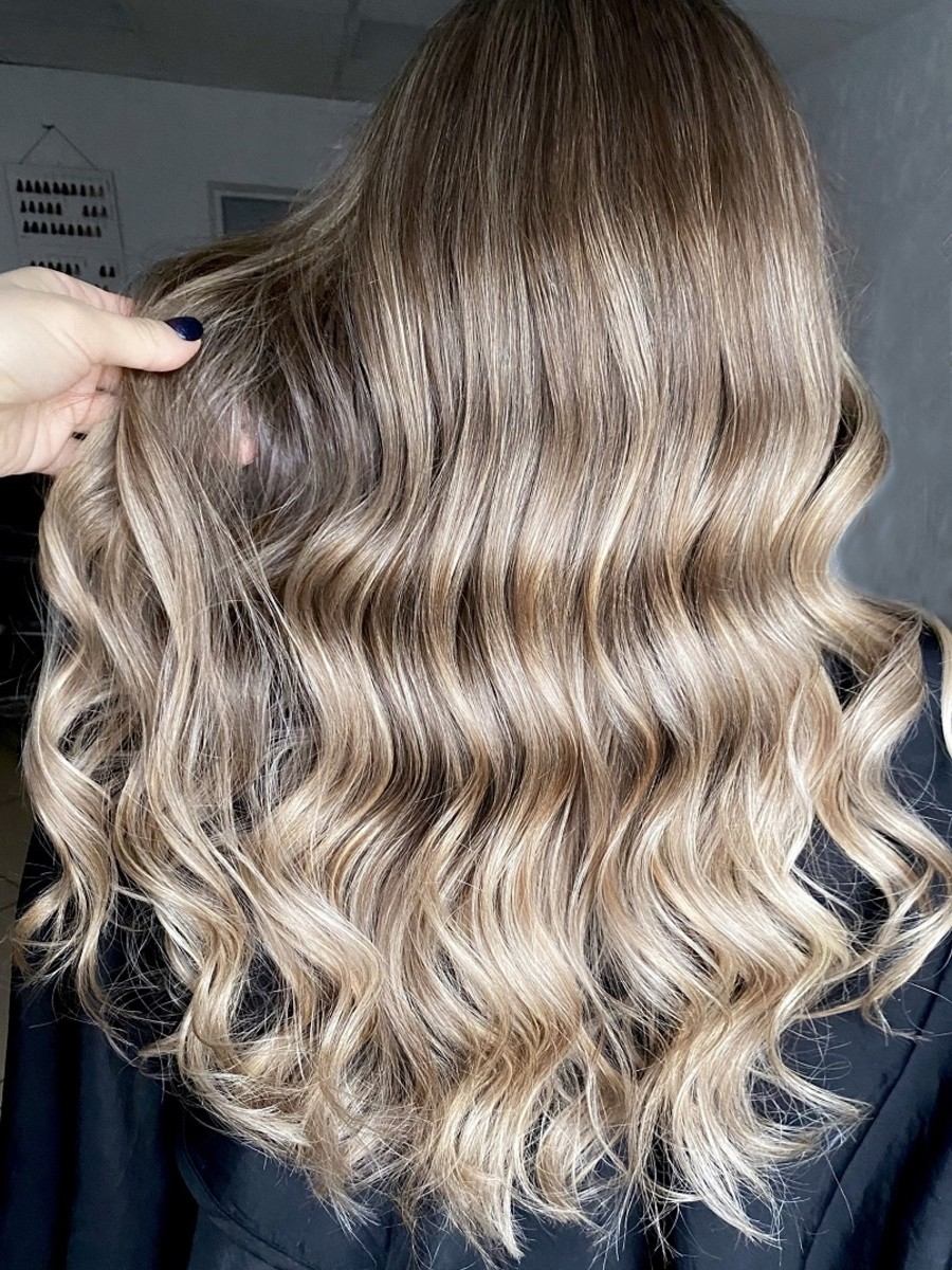 Balayage like this can produce a beautiful, dimensional blonde result.