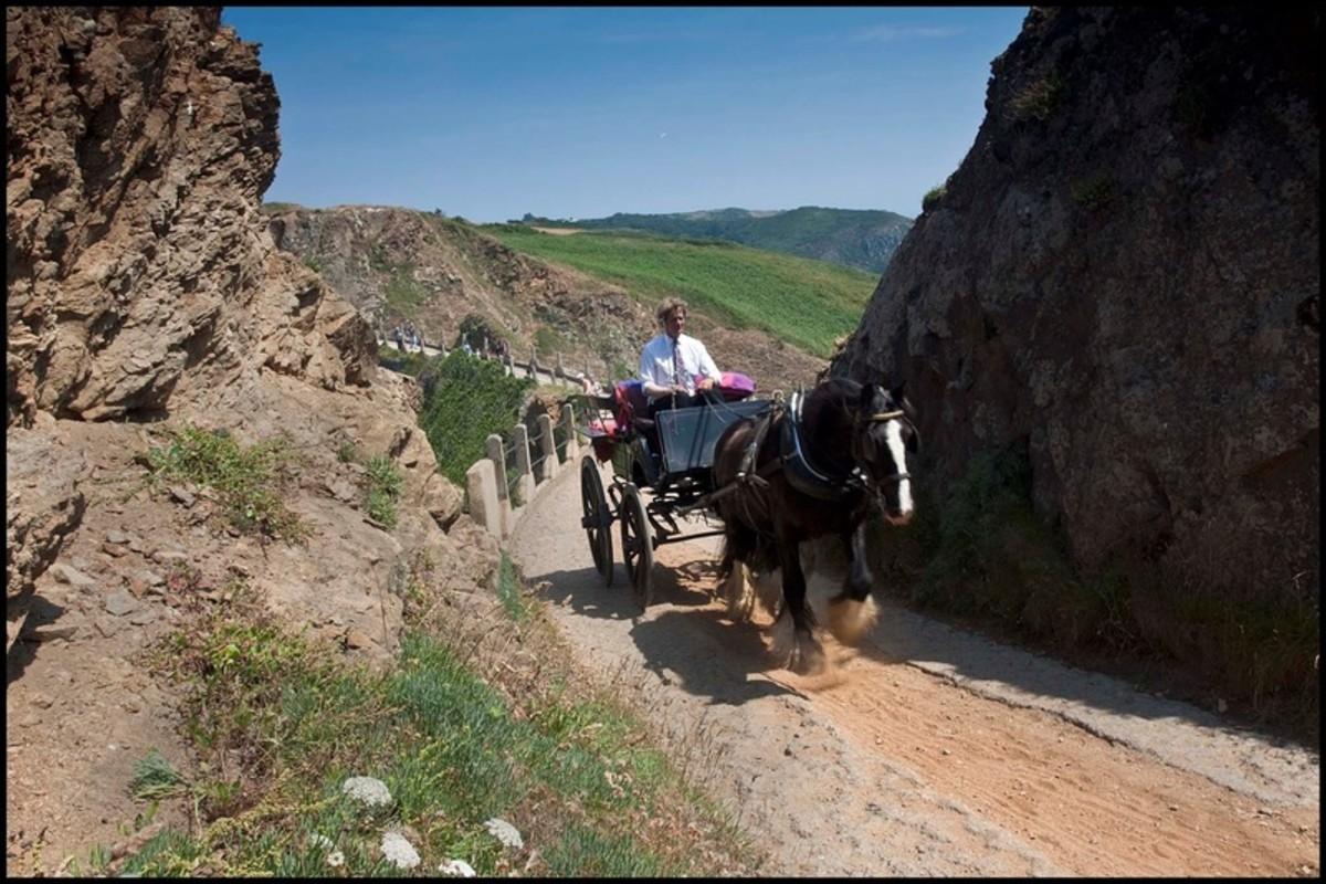 A Horse-Drawn Cart on Sark