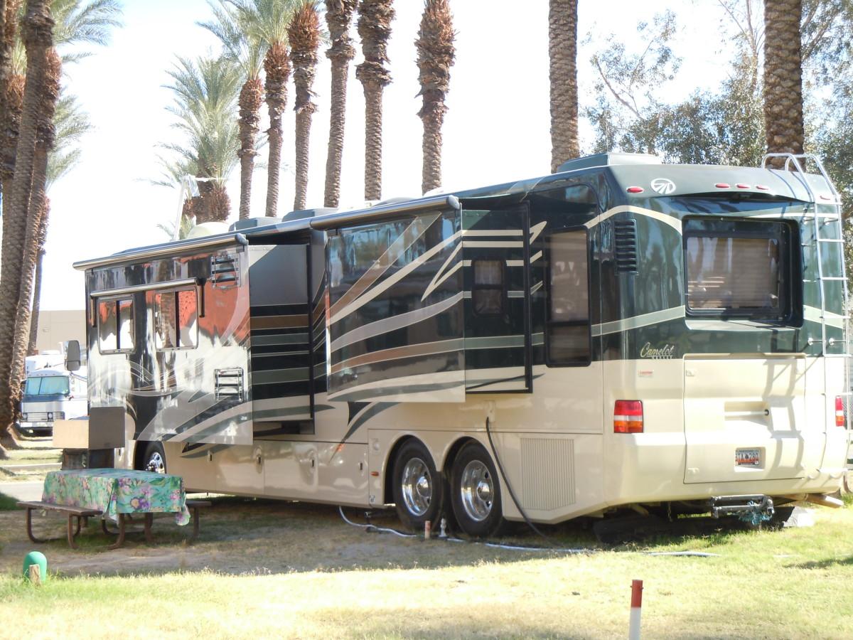 Big rig in a campsite