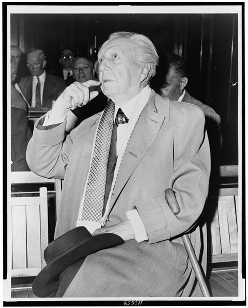 Frank Lloyd Wright in 1956.