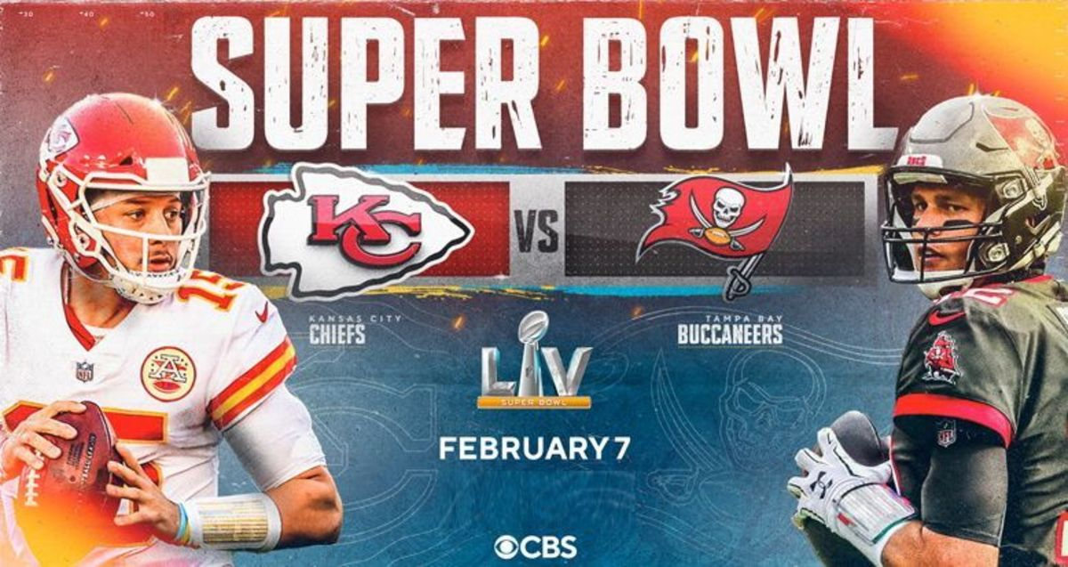 Super Bowl 55 will be in Tampa Bay, Florida as the number one seeded AFC Champs Kansas City Chiefs and the fifth seeded NFC Champs Tampa Bay Buccaneers face off.