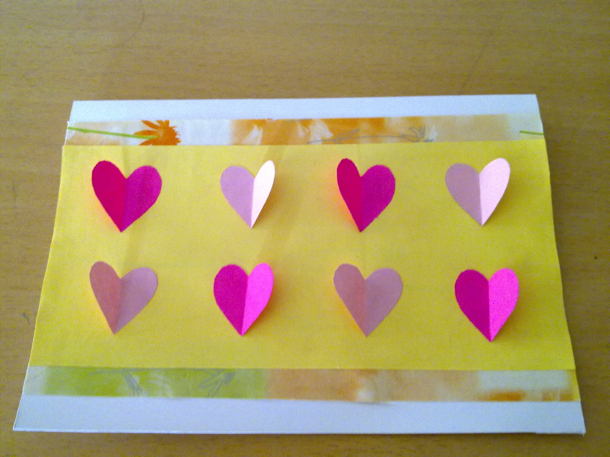 a Valentine's Day Card with cute little hearts