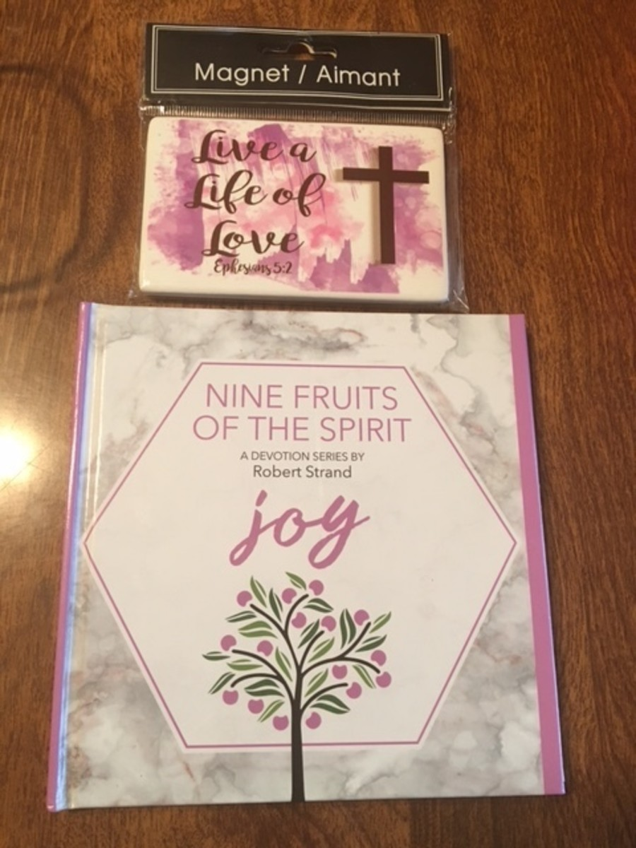 I found these neat devotionals on the fruits of the Holy Spirit that I thought would go perfectly into these goodie bags!